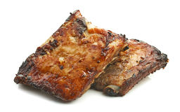 Grilled pork ribs. Isolated on white background Royalty Free Stock Photos