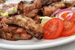 Grilled pork ribs, Portugal Royalty Free Stock Photos