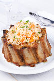 Grilled pork ribs with rice and spices Stock Photography