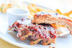 Grilled pork ribs Stock Photos