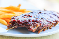 Grilled pork ribs Royalty Free Stock Image
