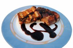 Grilled pork ribs whit sauce Stock Images