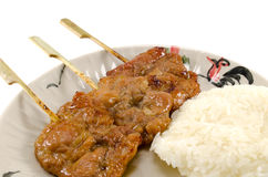 Grilled pork with rice Royalty Free Stock Photo