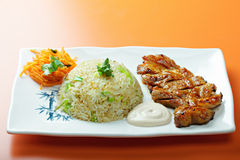 Grilled pork with rice Royalty Free Stock Image