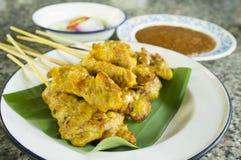 Grilled Pork Satay Royalty Free Stock Photo
