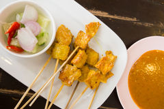 Grilled pork satay Stock Image