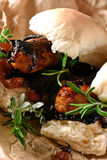 Grilled Pork Sausage Hot Dogs Stock Images