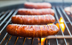 Grilled pork sausages Royalty Free Stock Photo