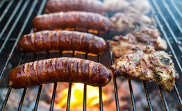 Grilled pork sausages Royalty Free Stock Photography