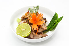 Pork with seafood sauce Stock Images