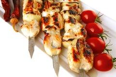 Grilled pork shish kebab Royalty Free Stock Image