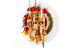 Grilled pork shish kebab Stock Photography