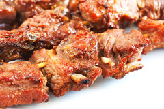 Grilled pork with short ribs on plate Stock Photography