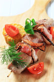 Grilled pork skewer Stock Image