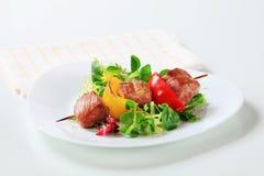 Grilled pork skewer Stock Photo