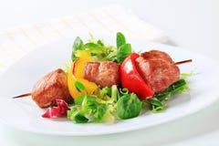 Grilled pork skewer Royalty Free Stock Image