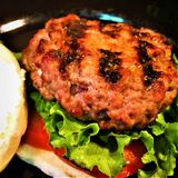 Grilled Pork Sliders stock photo