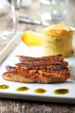 Grilled pork steak Royalty Free Stock Images