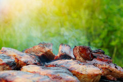 Grilled Pork Steak BBQ Royalty Free Stock Photography
