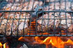 Grilled pork steak Stock Image