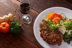 Grilled pork steak Stock Image