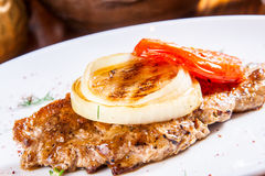 Grilled pork steak Royalty Free Stock Images
