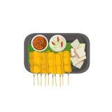 thai food Grilled Pork Sticks with Turmeric  Royalty Free Stock Photos