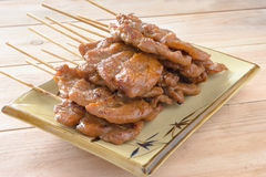 Grilled pork with sticky rice Royalty Free Stock Photo
