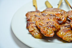 Grilled pork with sticky rice Royalty Free Stock Photography