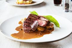 Grilled pork tenderloin Royalty Free Stock Photos
