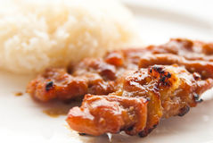 Grilled pork Thai food style Royalty Free Stock Photo