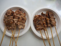 Grilled pork. Thai street food Royalty Free Stock Image