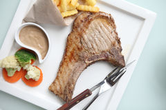 Grilled Porkchop Stock Photography