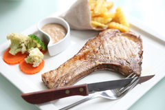 Grilled Porkchop Stock Images