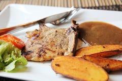 Grilled Porkchop Stock Image