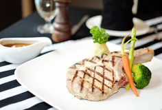 Grilled Porkchop Steak Stock Photography