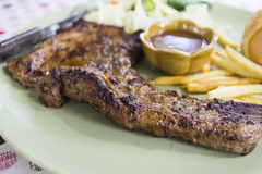 Grilled porkchop Stock Images