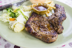 Grilled porkchop Royalty Free Stock Photos