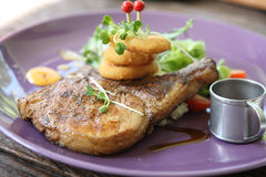 Grilled Porkchop Stock Photo