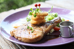 Grilled Porkchop Royalty Free Stock Photo
