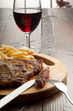 Grilled porterhouse with french fry Stock Photography