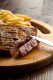 Grilled porterhouse with french fry Stock Photo