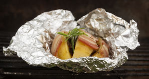 Grilled potato with bacon Royalty Free Stock Photo