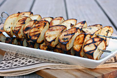 Grilled Potato Skewers Stock Photos