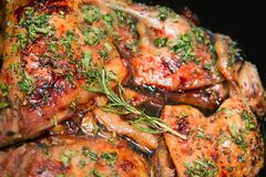 Grilled poultry Stock Image