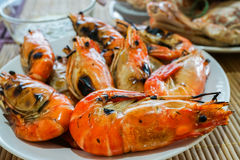 Grilled prawn is delicious seafood Royalty Free Stock Images