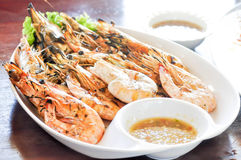 Grilled prawn, grilled shrimp Stock Photo