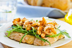 Grilled Prawn sandwich Stock Photos