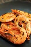 Grilled prawn or shrimp Stock Image