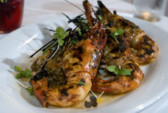 Grilled Prawns 2 Stock Photos